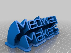 Medway Makers Sweeping 2-line name plate