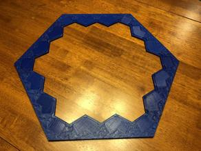 Thicker Catan frame border for thicker hex pieces