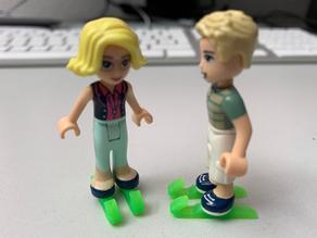 Ice-skates for lego figures