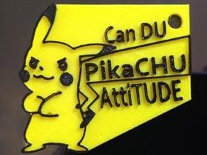 Pikachu Attitude Keychain
