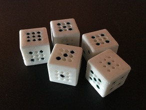 Dotted dice - d6, d0-5, and d9-9