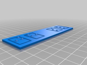 My Customized Parametric Braille Name Plates/Keyrings
