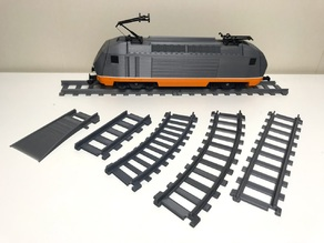 Train tracks for OS-Railway - fully 3D-printable railway system!