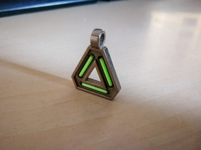 Tritium Triangle Necklace