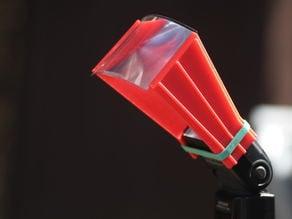 Flash extender fresnel lens