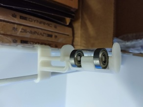 Wire Shelf Spool Holder with Bearings