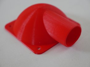 Adaptateur ventilateur 80mm / tuyau aspirateur 40mm