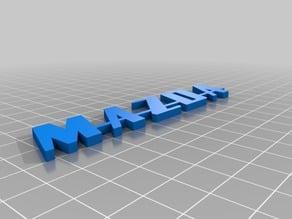 MAZDA VINTAGE 3D LOGO
