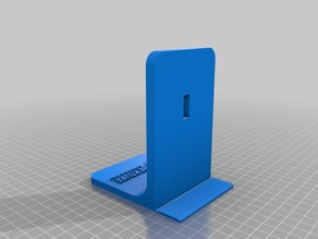 portal book stand end with aperture logo on it