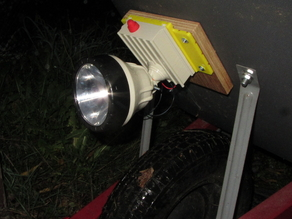 Wheelbarrow Headlight Using Eveready 6V Flashlight Guts