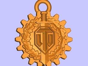 WOT logo keychain