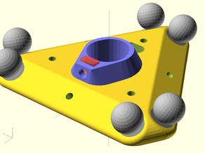 Customizable Delta Printer Effector and Carriage for Magnetic Joints