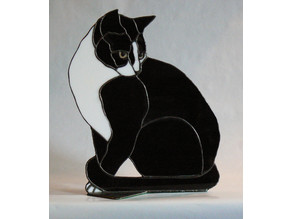 Black Cat (Stained Glass)
