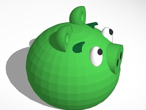 green piggy from angry birds