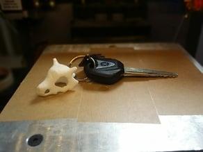 Cubone Pokemon Skull Keychain