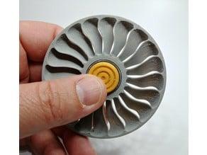 Modern Jet Turbine Fan Fidget Spinner