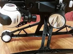 Searchlight mount for Inspire 1 and Q500+