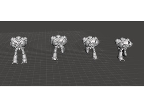 Robotech Masters Nous' Dohl Legionnaire Blue Bioroid set3 (4 units)