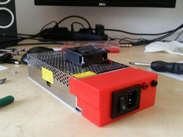 156005c5baf40ff51a327f1c34f2975b_preview_featured tevo tarantula power supply adapter by frutolo thingiverse  at n-0.co