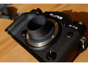 "Customizable 1 1/4"" Adapter for Fujifilm X-Mount"
