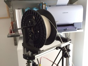 Simple top mounted filament reel holder for Kossel mini