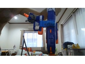 Nerf DISRUPTOR and Nerf JOLT attachment with target