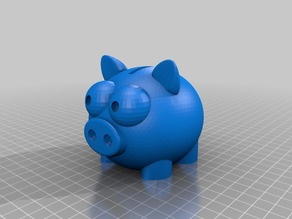 Piggy Bank with pig tail