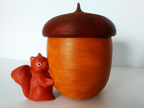 Squirrel nut candle holder/secret storage