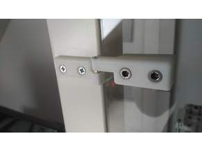 Acrylic Glass Holder and Door Hinge (IKEA Lack Enclosure)
