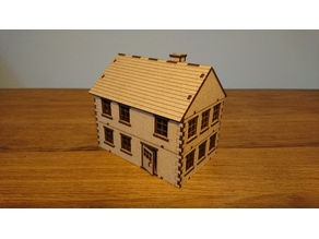 lasercut house - 28 mm wargaming terrain