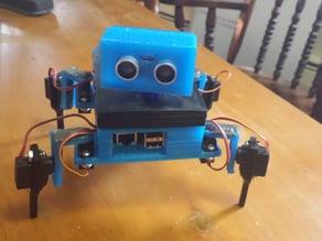 Gizmo, the 3d-printed,4-legged robot