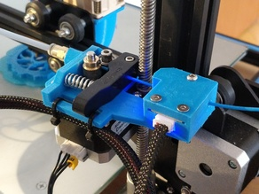 CR10 extruder drive holder with filament sensor