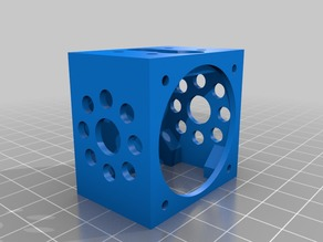 E3D Lite6 mounting cage for Anycubic Kossel delta