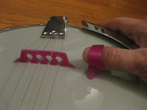 5 string banjo bridge and thumb pick