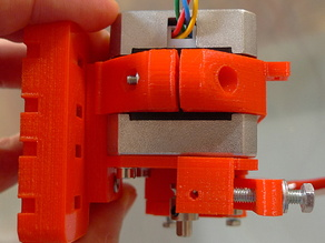 Extruder stepper mount for standard Prusa i3 x-carriage