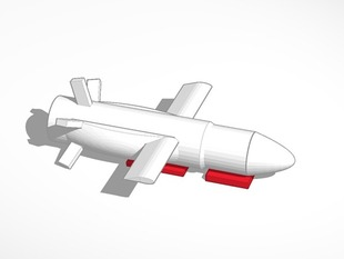 PLEIADES 1 Cruise Missile 18mm Estes rocket