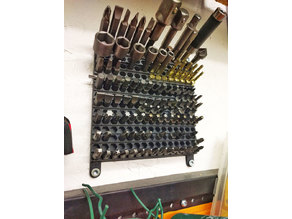 Wall mounted hex bits holder