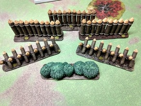 Song of Ice and Fire Terrain Accessories and Movement Trays: Palisade, Cheval de frise, Stone Walls & Hedges