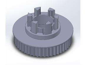 Longboard ABEC 11 Flywheels - Flywheel Clones - MBS All Terrain Wheels - CNC 48T Single Piece Pulley for 9mm, 12mm, 15mm Belts