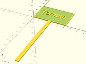 Configurable Plant Sign