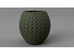 Dragon scales Vase pot