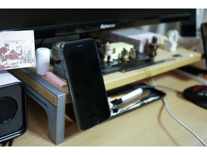 Magnetic iphone cradle for monitor stand - REMIX