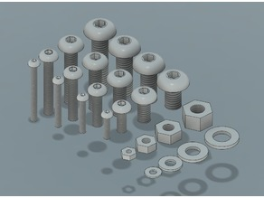 M2, M3, M4 & M5 Button Head Screws, Nuts and Washers