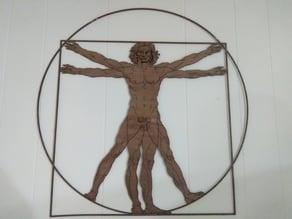 Vitruvian Man (Laser Cut)