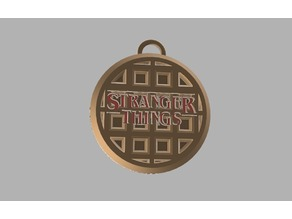 Stranger Things 11 Waffle Key Chain