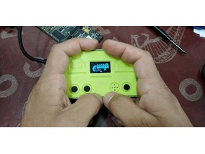 Handheld case for ATTINY85 Space Invaders game