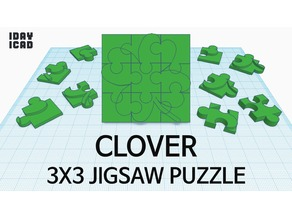 [1DAY_1CAD] 3X3 JIGSAW PUZZLE CLOVER