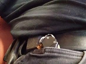 Belt retractable badge holder