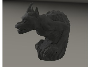 gargoyle inspired by  Cathedral Notre Dame from Paris