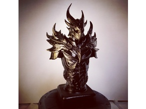 Elder Scrolls Skyrim Daedric Armor Bust